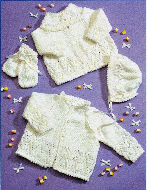 Baby matinee coats knitting pattern matinee jackets bonnet mitts baby matinee coats knitting pattern matinee jackets bonnet mitts picot edge newborn 16 20 inch bankloansurffo Choice Image