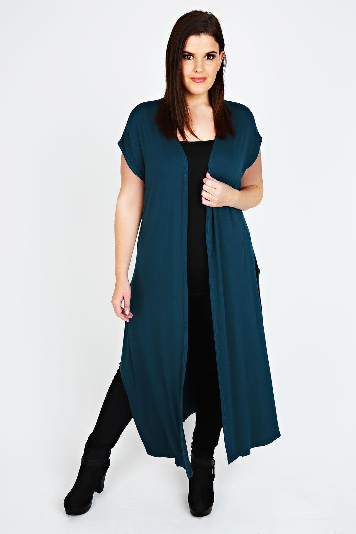Teal Longline Maxi Cardigan   Maxi cardigan, Teal and Stretch fabric