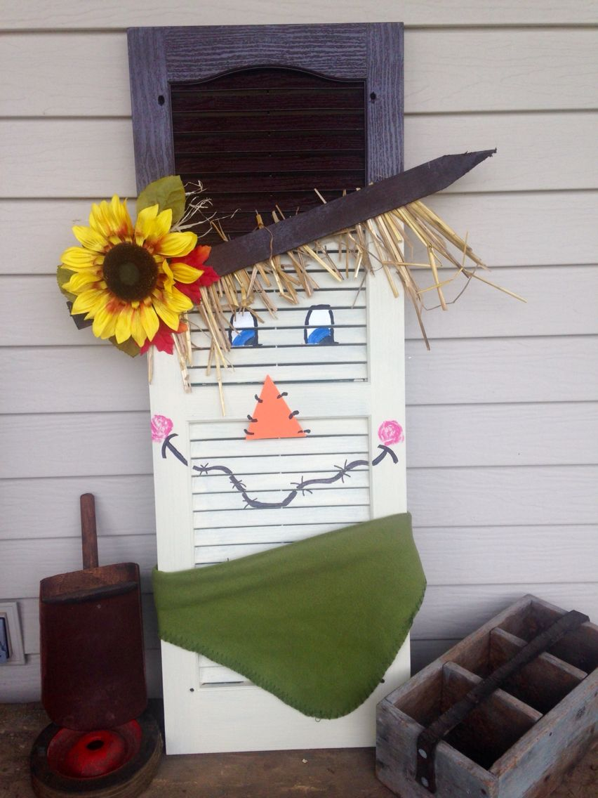 Shutter Scarecrow Diy And Crafts