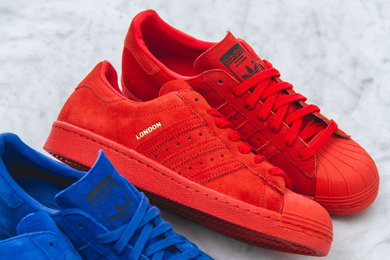 adidas superstar red london