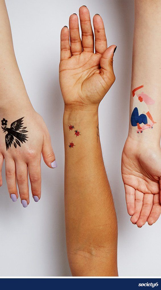 We've collaborated with Tattly to turn our artists' illustrations into wearable art: temporary tattoos!… | Society6 thumbnail