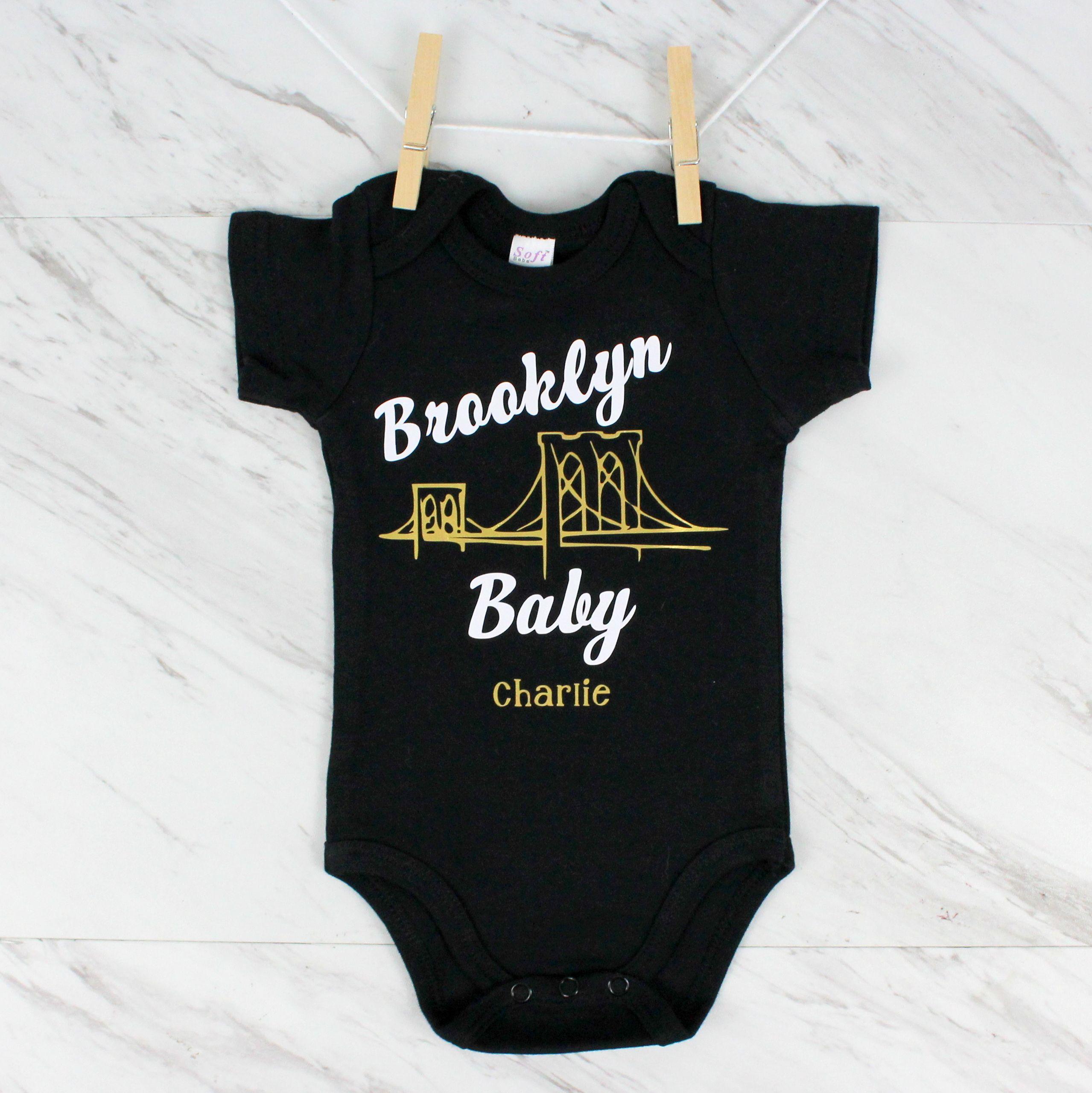 custom baby loves new york bodysuit