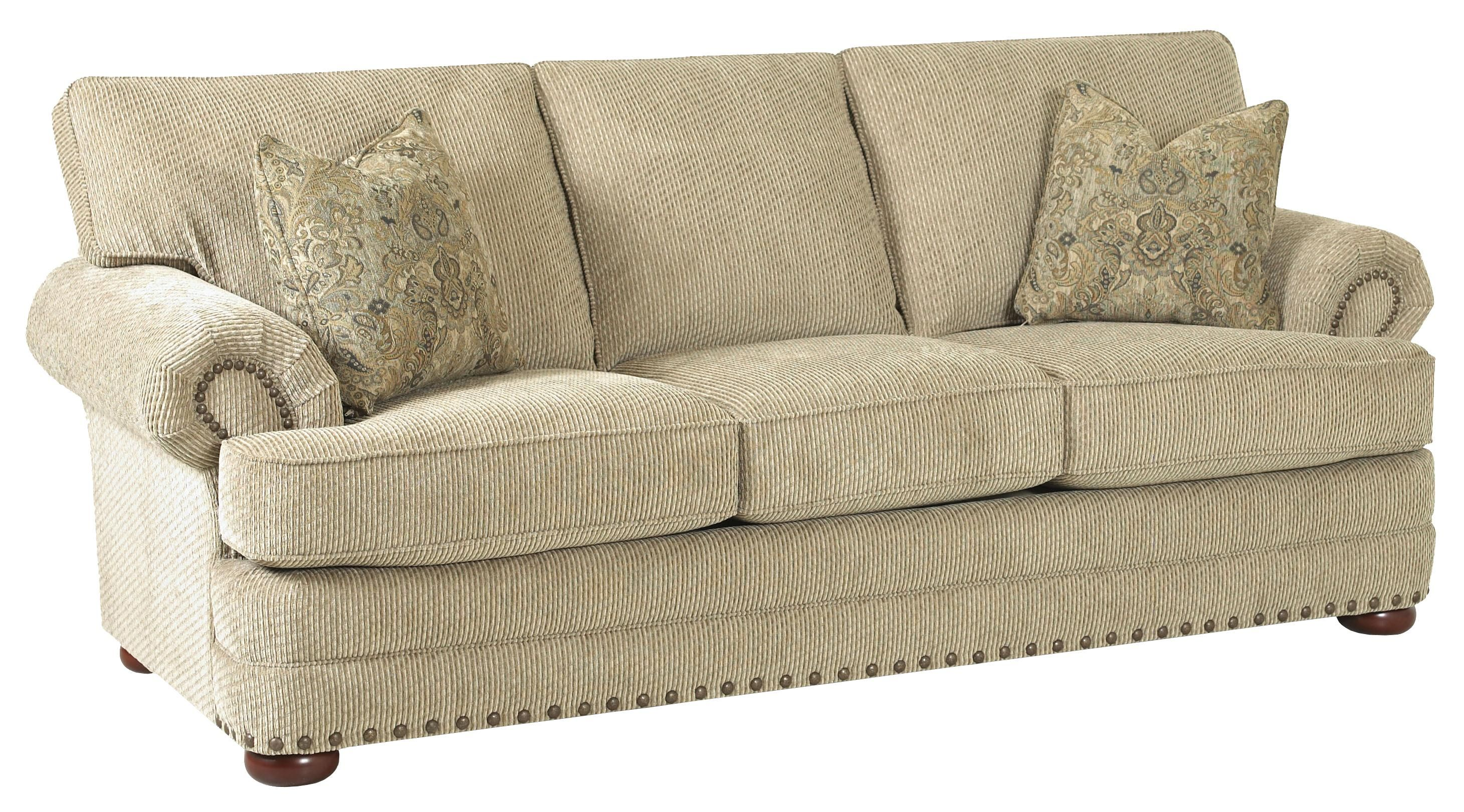 Simple Elegance Cliffside Traditional Styled Sofa With Nail Head Accent  Trim   Gardiners Furniture   Sofa