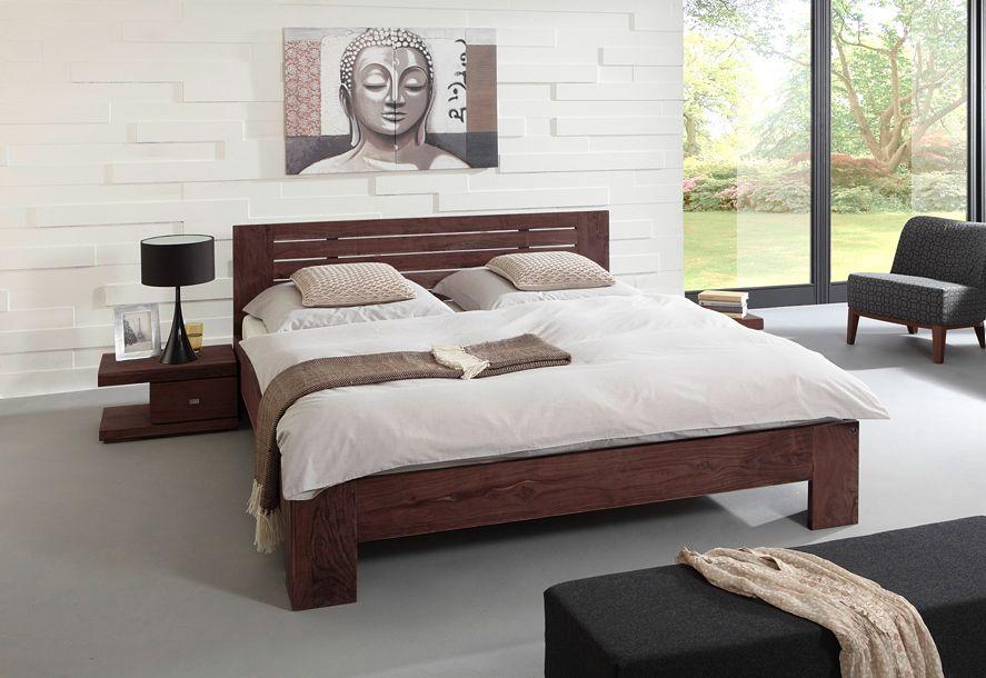SAM® Holzbett TIMBER 6704 akazie massiv tabak 160 x 200 cm Schlafe - schlafzimmer holz massiv