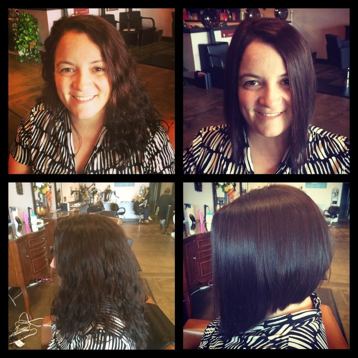 Before and after - Fabulous bob!  Salon Isis, 1645 Market Place Blvd, Cumming, GA