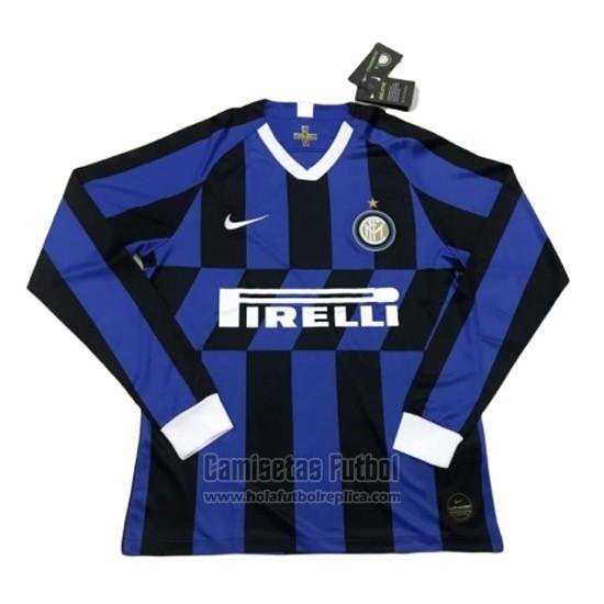 Camiseta Inter Milan Primera Manga Larga 2019 2020 Futbol Replicas Inter Milan Soccer Jersey Milan