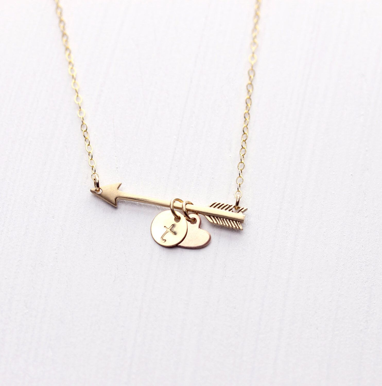 Golden Arrow Personalized Necklace Rose Gold Necklace