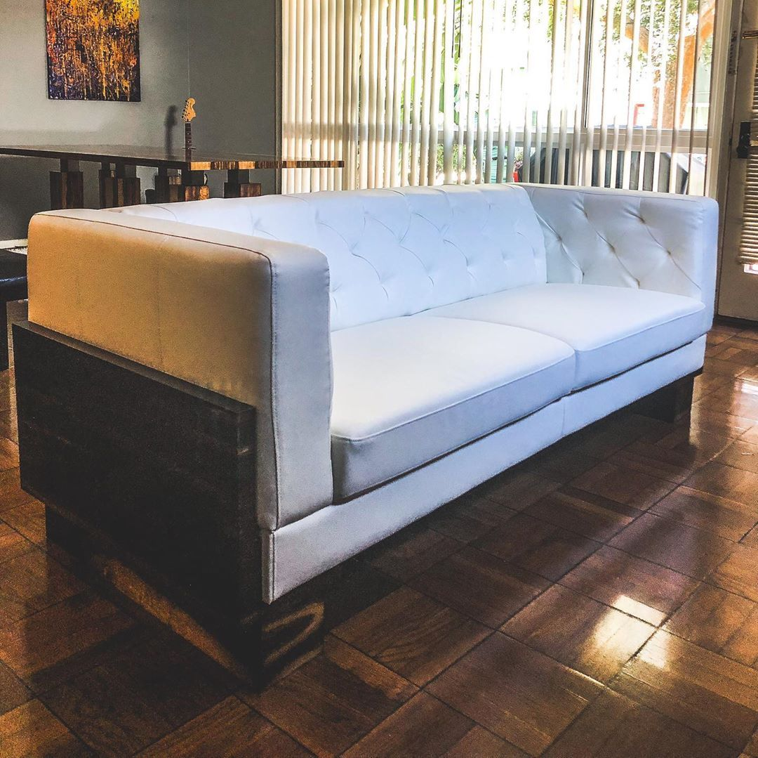 Be A Couch Potato With Style Custom Made Couch With Wood Detail