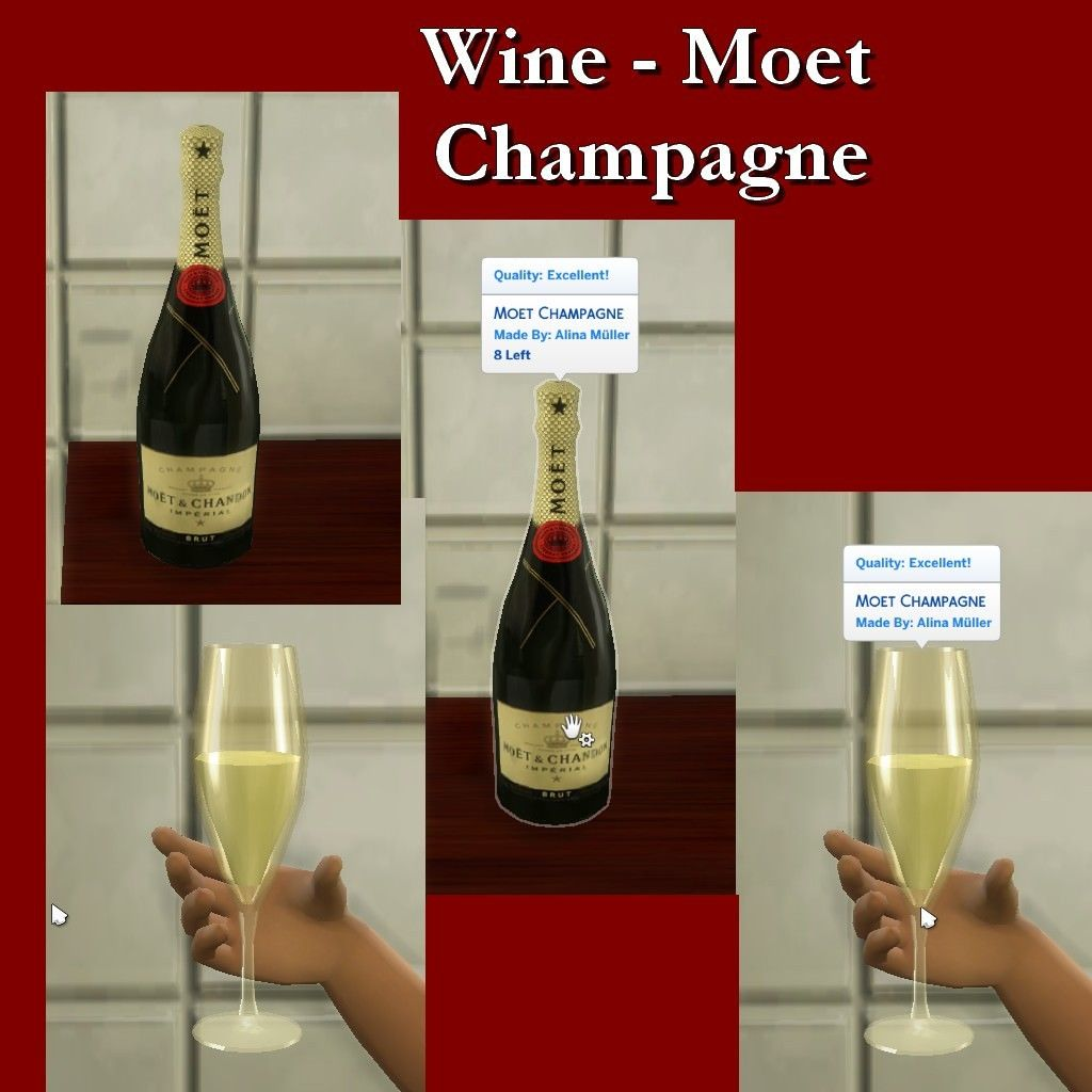 Lana Cc Finds Wine Moet Champagne By Leniad Sims 4 Kitchen Sims 4 Game The Sims 4 Packs
