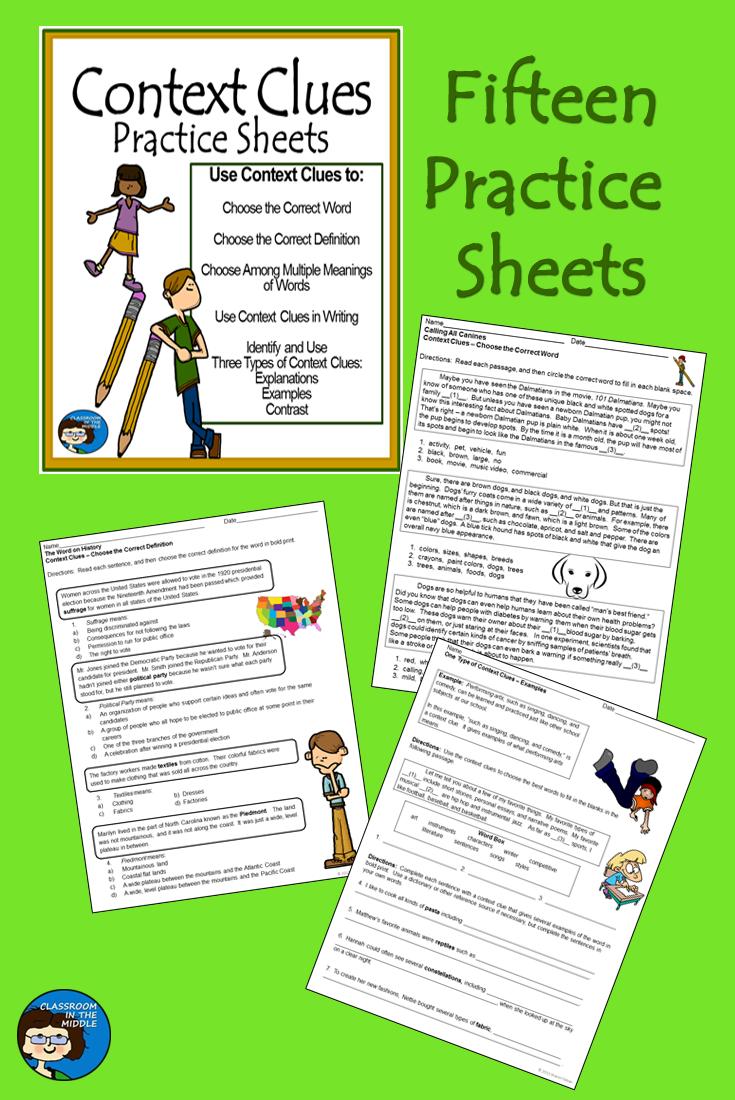 worksheet. Context Clues Worksheets Middle School. Carlos ...