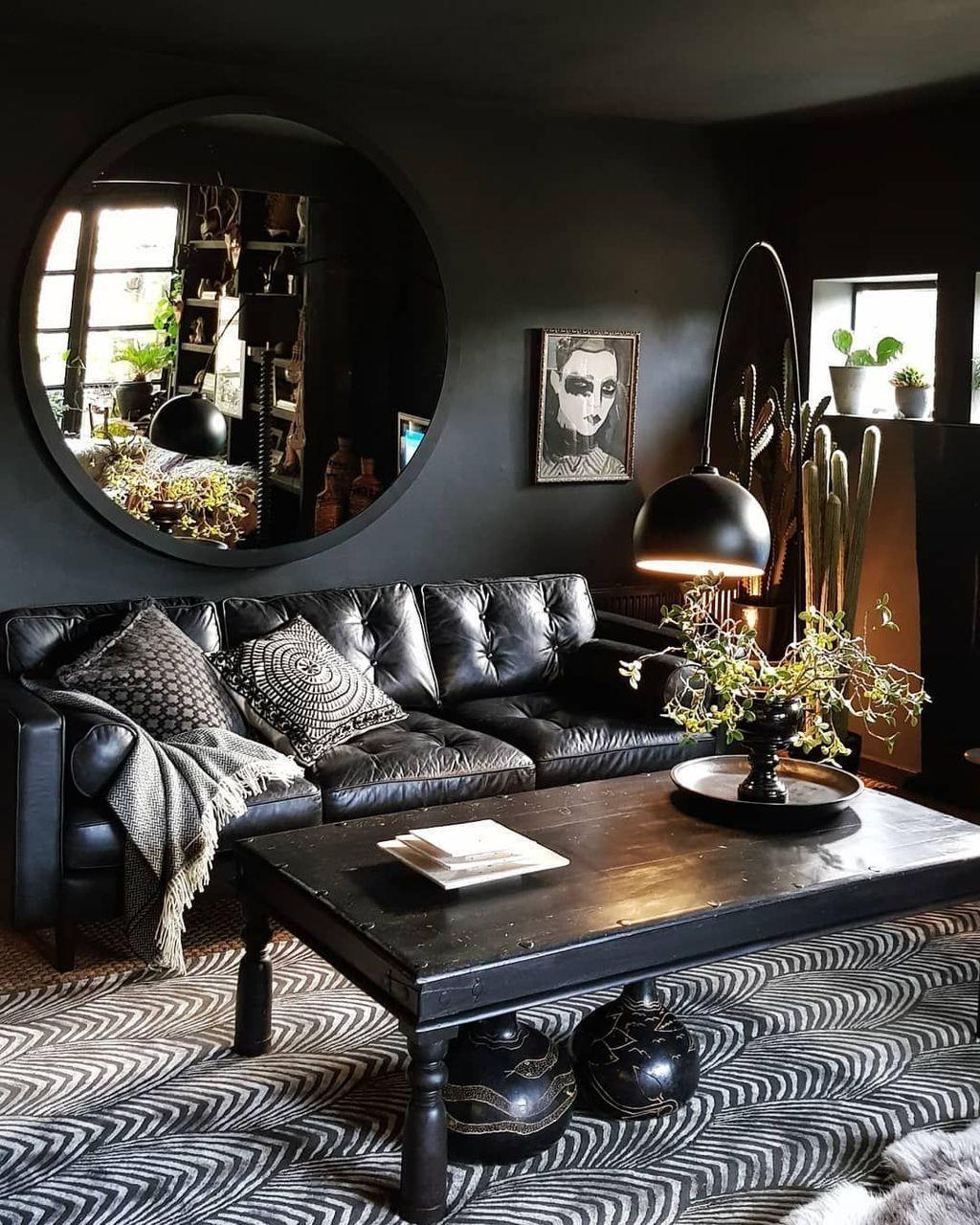 48 Beautiful Black Living Room Ideas Trendehouse Black Li