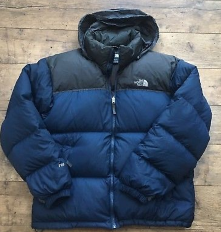 FOR SALE  Men s The North Face Navy Down Hooded Nuptse Puffa Jacket Large  VGC! fa3d08f420ce