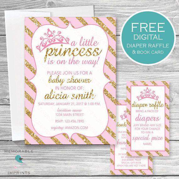 princess baby showers girl baby showers printable invitations baby