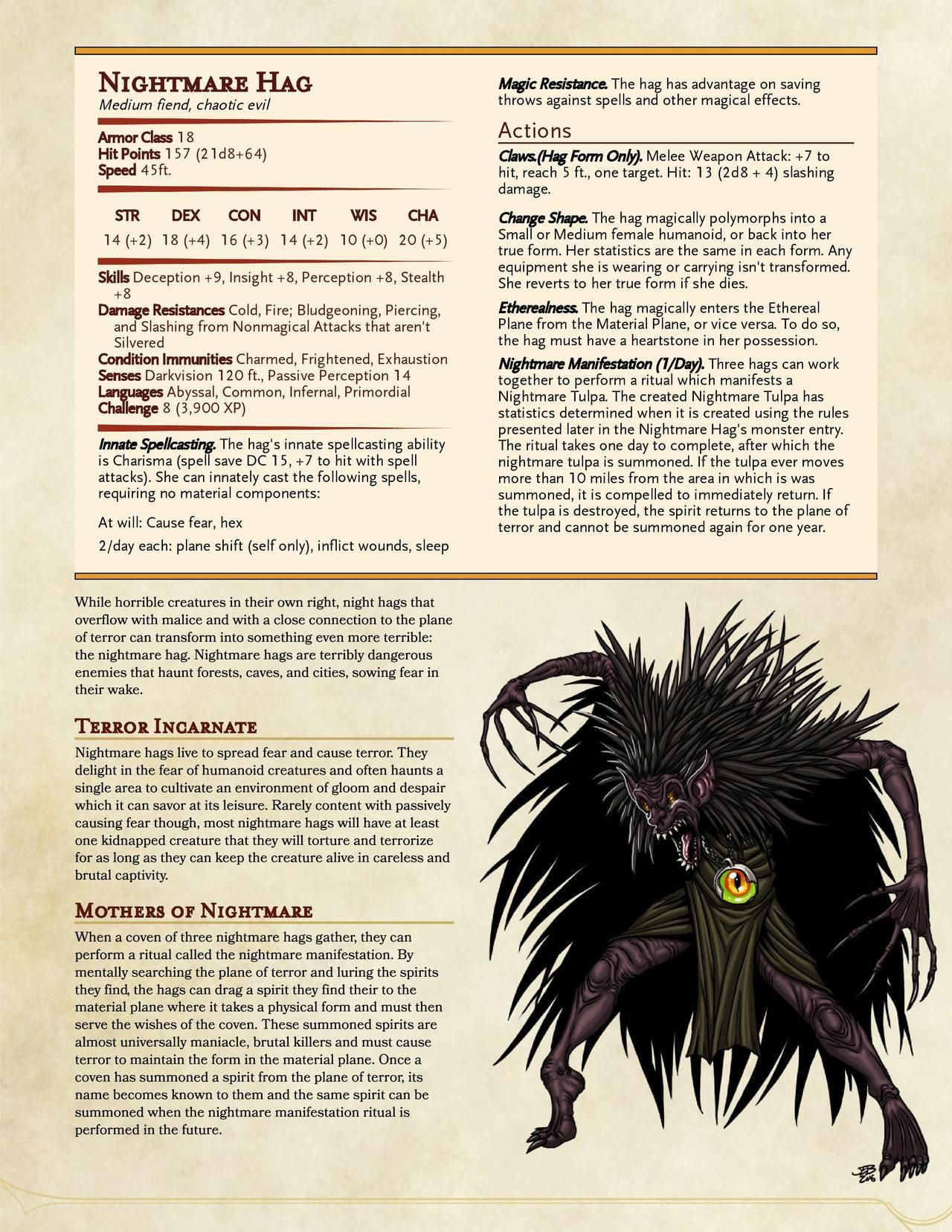 Dnd 5e Nightmare : nightmare, Technically, Halloween, Don't, Really, Guess), Of…, Homebrew,, Monsters,, Dungeons, Dragons, Rules