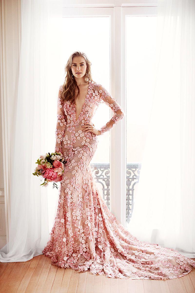 Lace wedding dress pink october 2018 Pin by Ariel Thilly on Ça vole ça traîne  It flies it trains