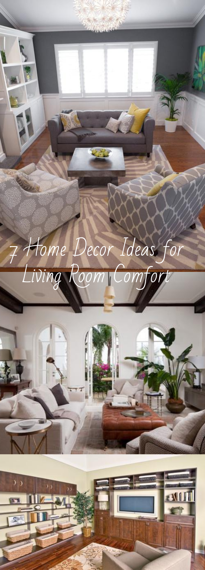 To help you get the perfect balance, here are seven ideas that will keep your living room looking great without losing its sense of comfort.  #design #comfort #homedesign #homeideas #coziness #cozyhome