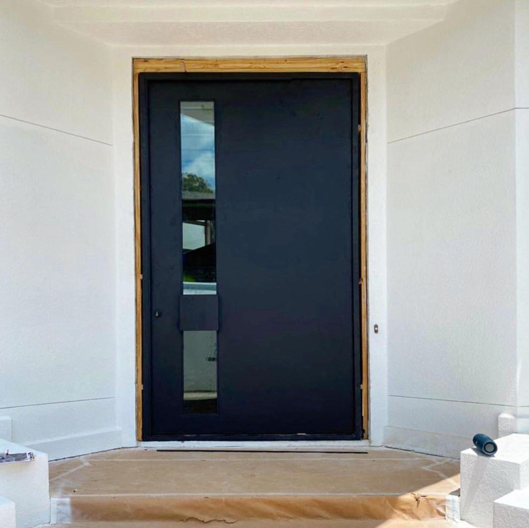 """Manhattan Steel Door Co on Instagram: """"Pivot door installed this week. 6' x 10' . Used the @fritsjurgens pivot system to handle the weight. #steeldoors #pivotdoors"""""""