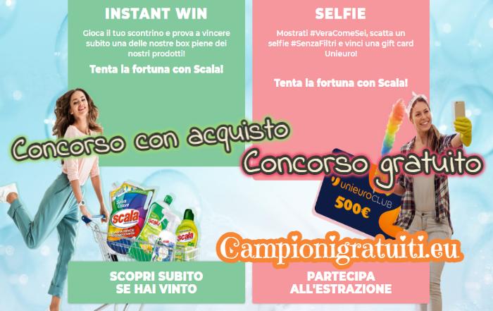 """Concorso Scala """"Gioca Pulito"""" vinci Gift Card Unieuro"""