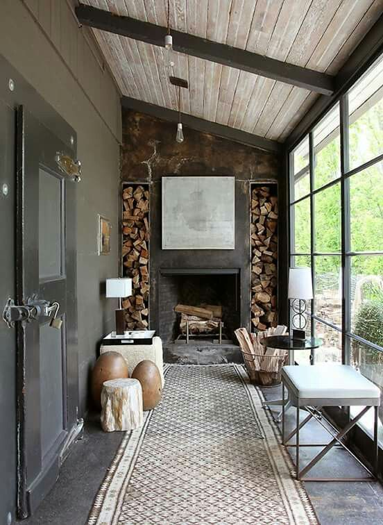 10 Fireplaces To Warm Your Home This Winter Glass Garage Door