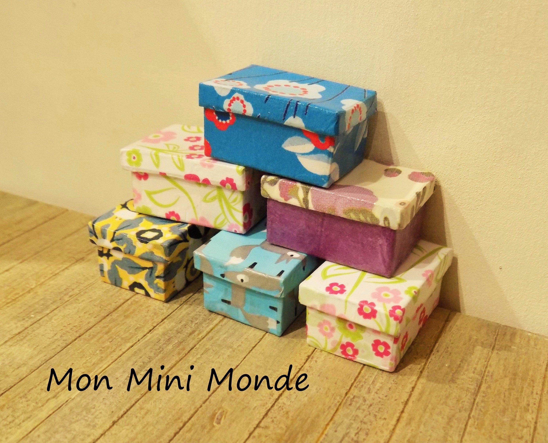 Lot De 3 Boites De Rangement Miniatures Boite De Rangement Maison De Poupee Barbie Et Boite