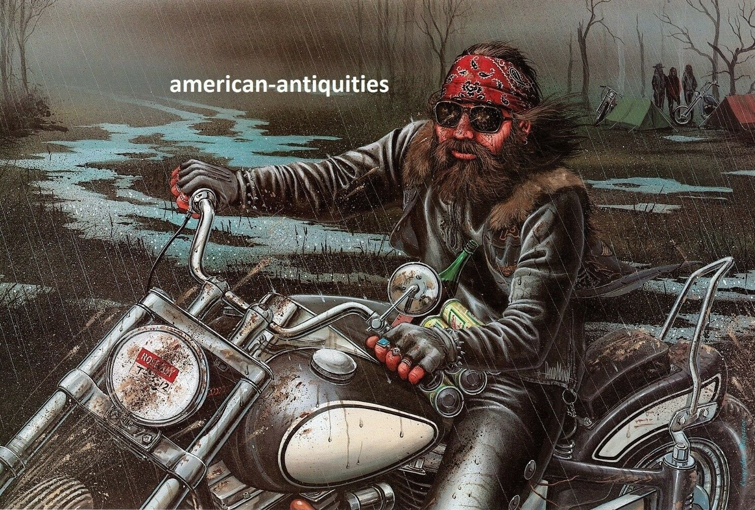 Dave david mann biker art motorcycle poster print