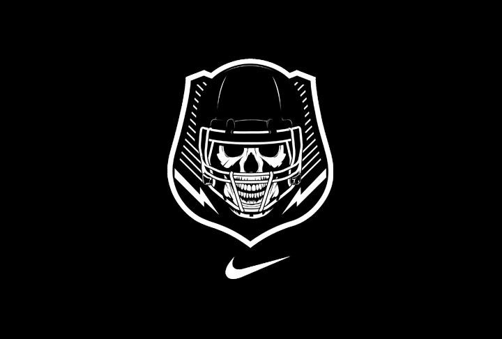 Nike Elite Us Football Camp Logo Skull Logo Camp Logo Logo Design Examples