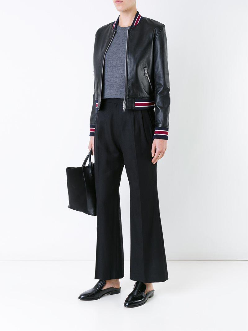 67b4da6f74b ¡Cómpralo ya!. Loveless Cropped Leather Jacket. Black lambskin cropped  leather jacket from