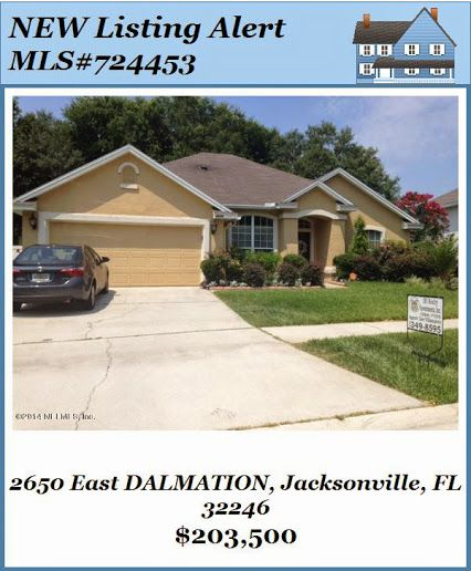 NEW Listing Alert:2650 Dalmation. Brought to you by Lee Villanueva of INI Realty Investments, Inc., the first 100% Commission Real Estate Office in Jacksonville, FL. www.100RealEstateJax.com