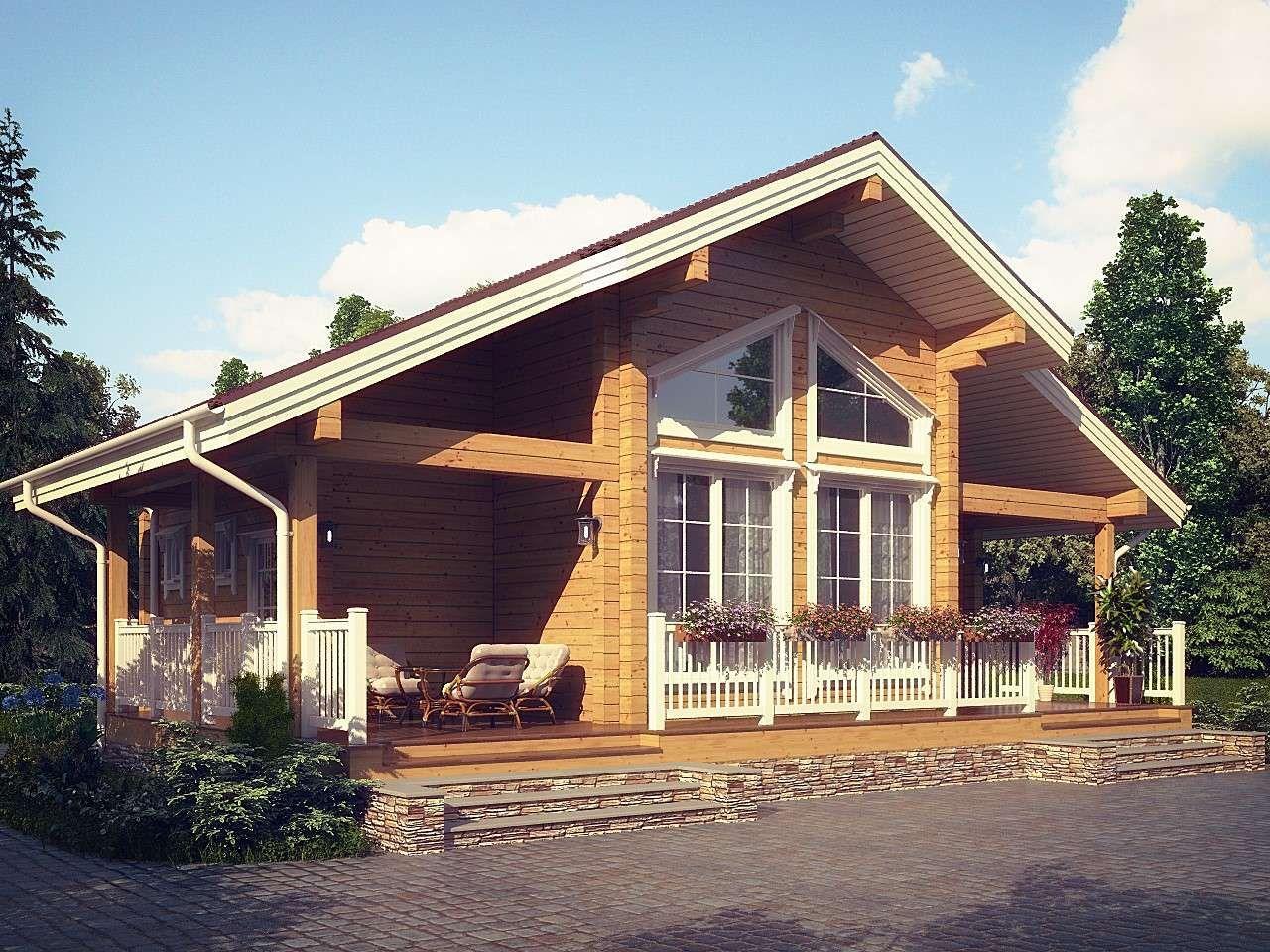 Финские Дома из Бруса: 185+ (Фото) Одно и Двухэтажных ...