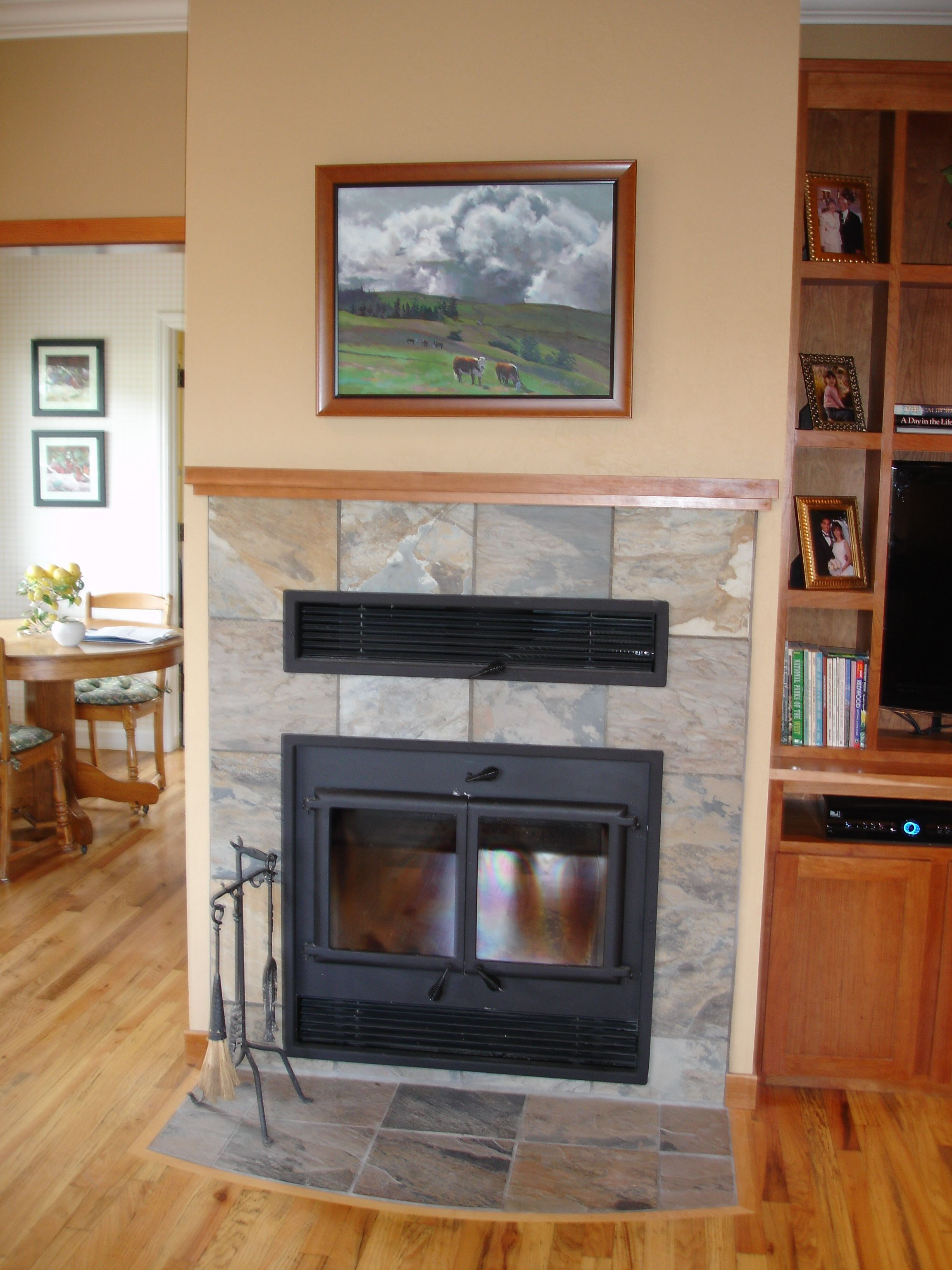 Living Quarters Free Standing Wood Stove Home Brick Hearth