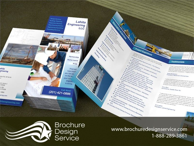 Brochure Sample. Lahita Engineering Tri-Fold Brochure, Ltr Open
