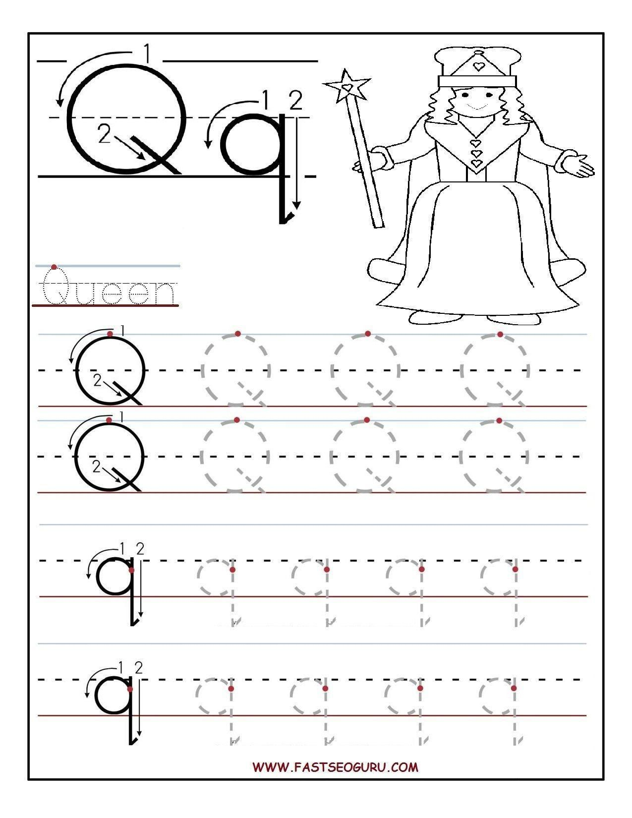 Letter Tracing Templates Preschool In