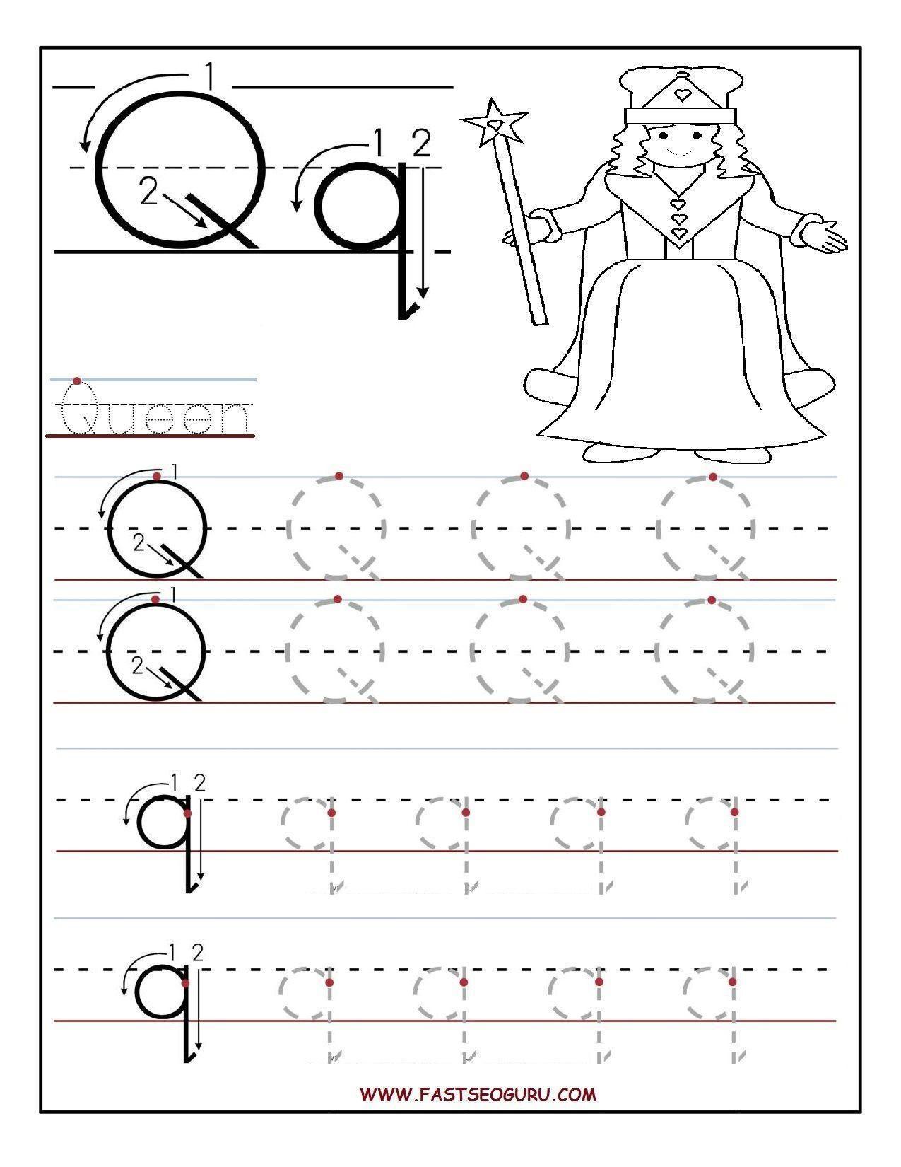 Letter Tracing Templates Preschool In
