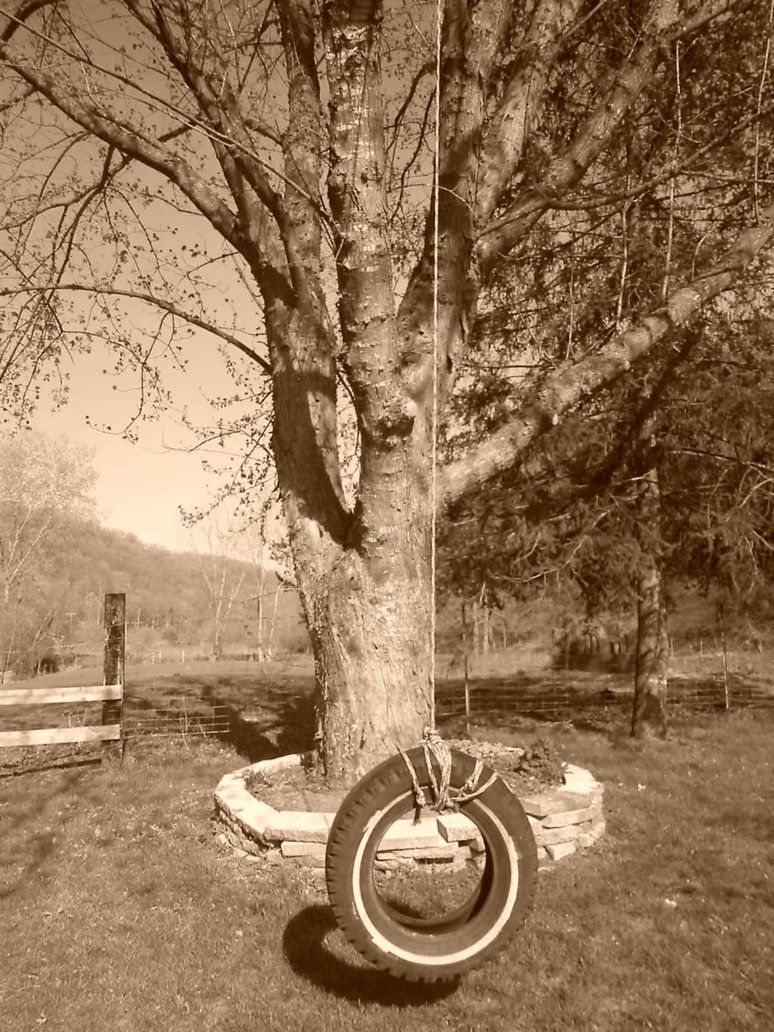 The Old Tire Swing by Lynie95 on