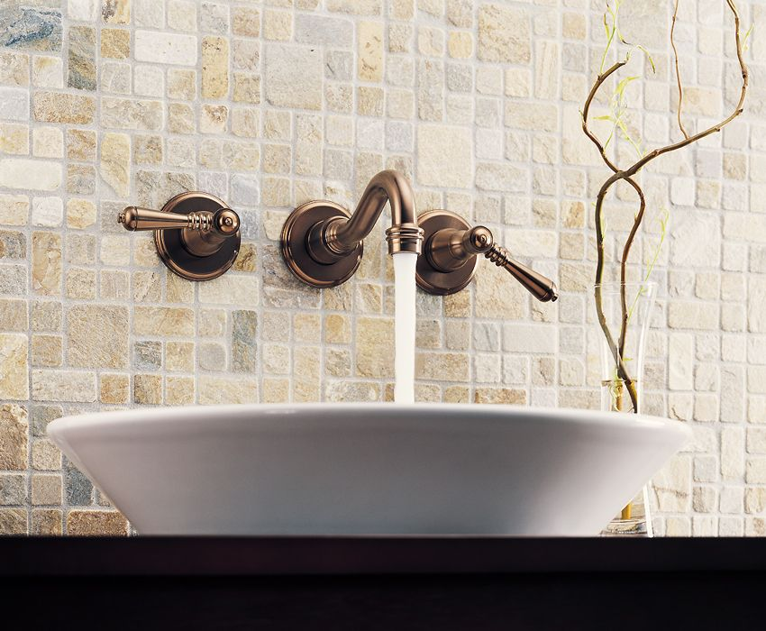 Brizo Tresa Wall Mount Faucet in Venetian Bronze | Bathroom ...