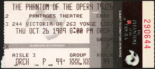 phantom opera tickets