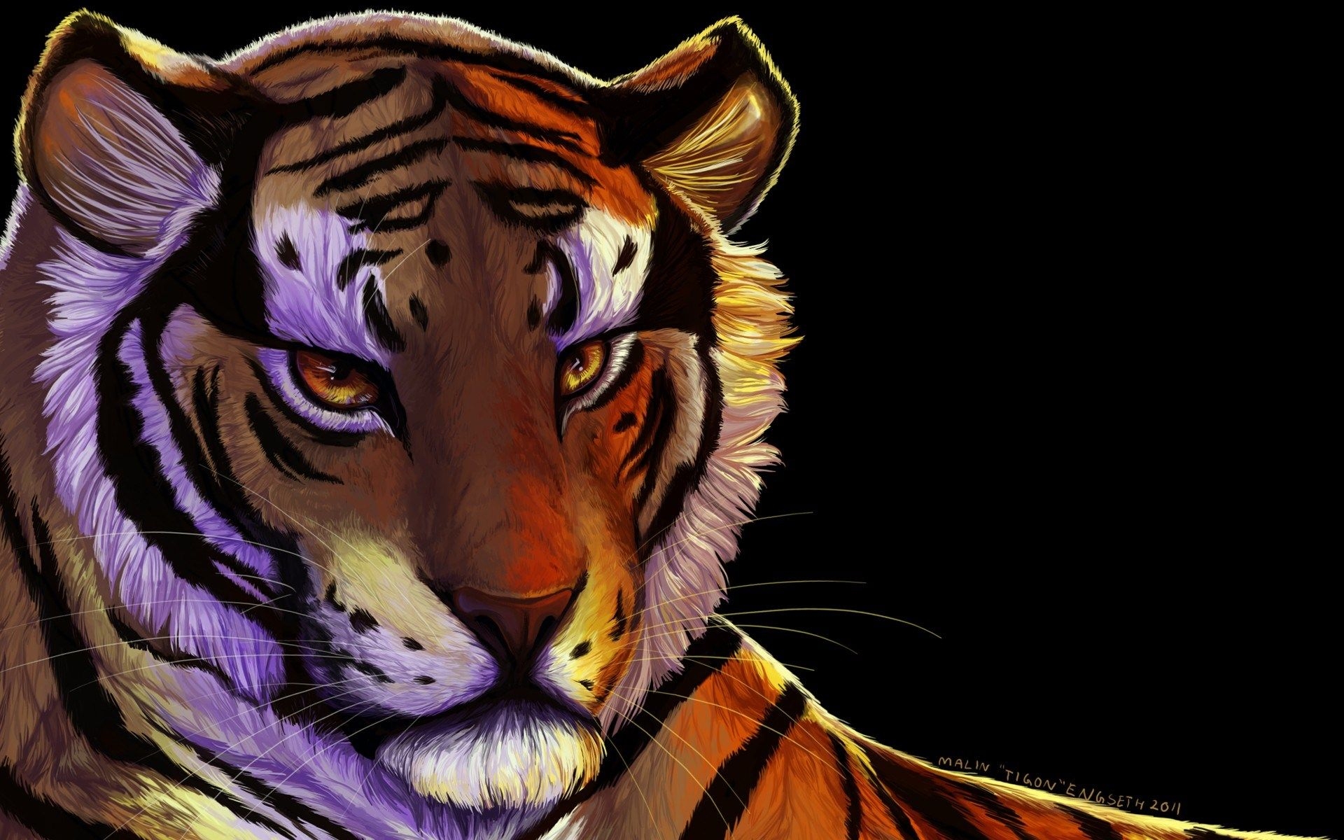 tiger art Wallpapers