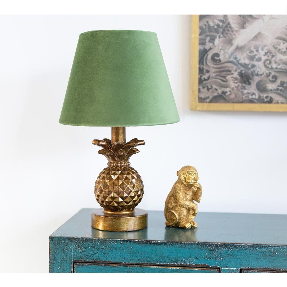 Small Gold Pineapple Table Lamp in 2020 Quirky table