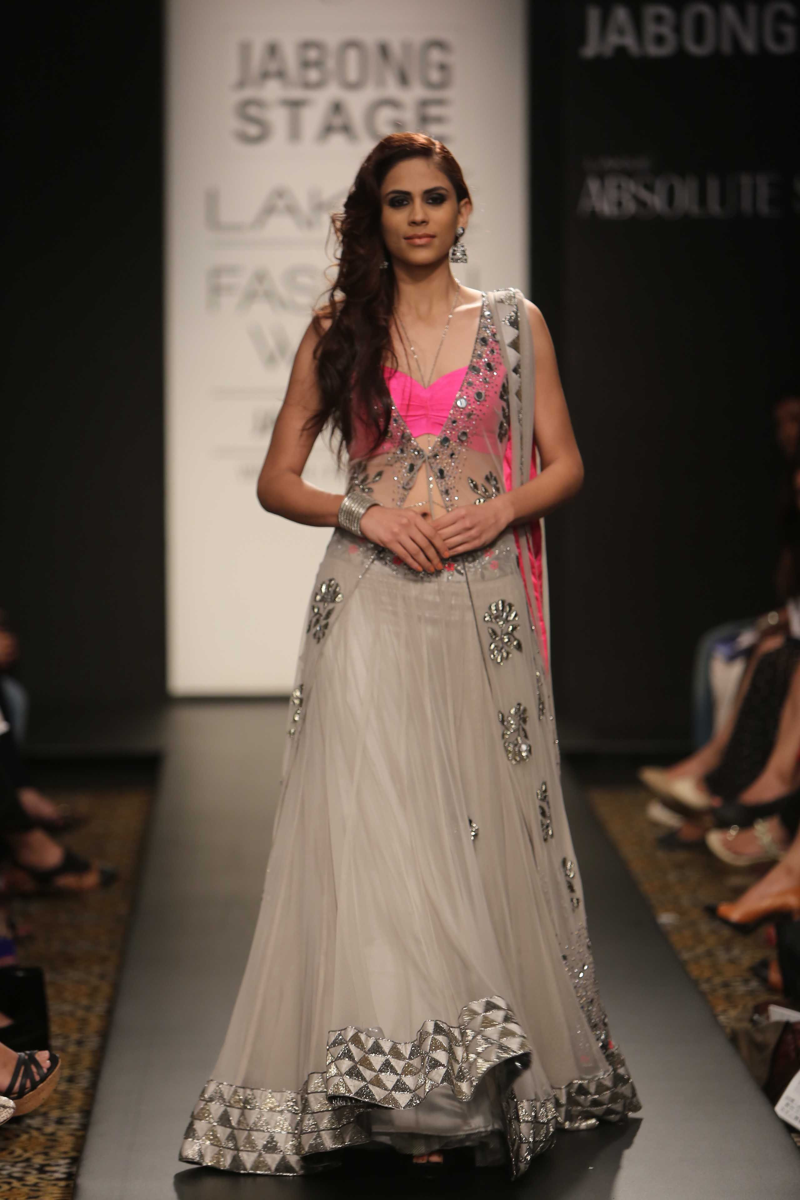 The Combination Of Pink And Grey May Be Is Something Fashion Designer Dresses Indian Attire