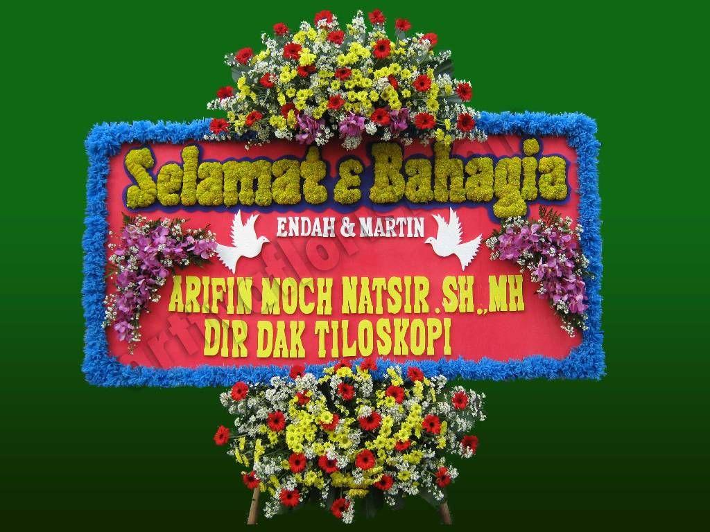 Jual Karangan Bunga Happy Wedding Karangan, Toko bunga