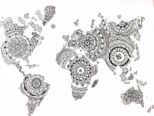 pinrafael rodrigues on diy  world map tattoos
