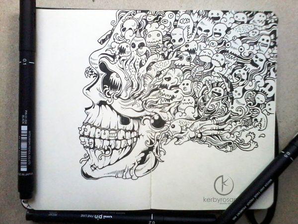 Moleskine Doodles 2013 by Kerby Rosanes, via Behance