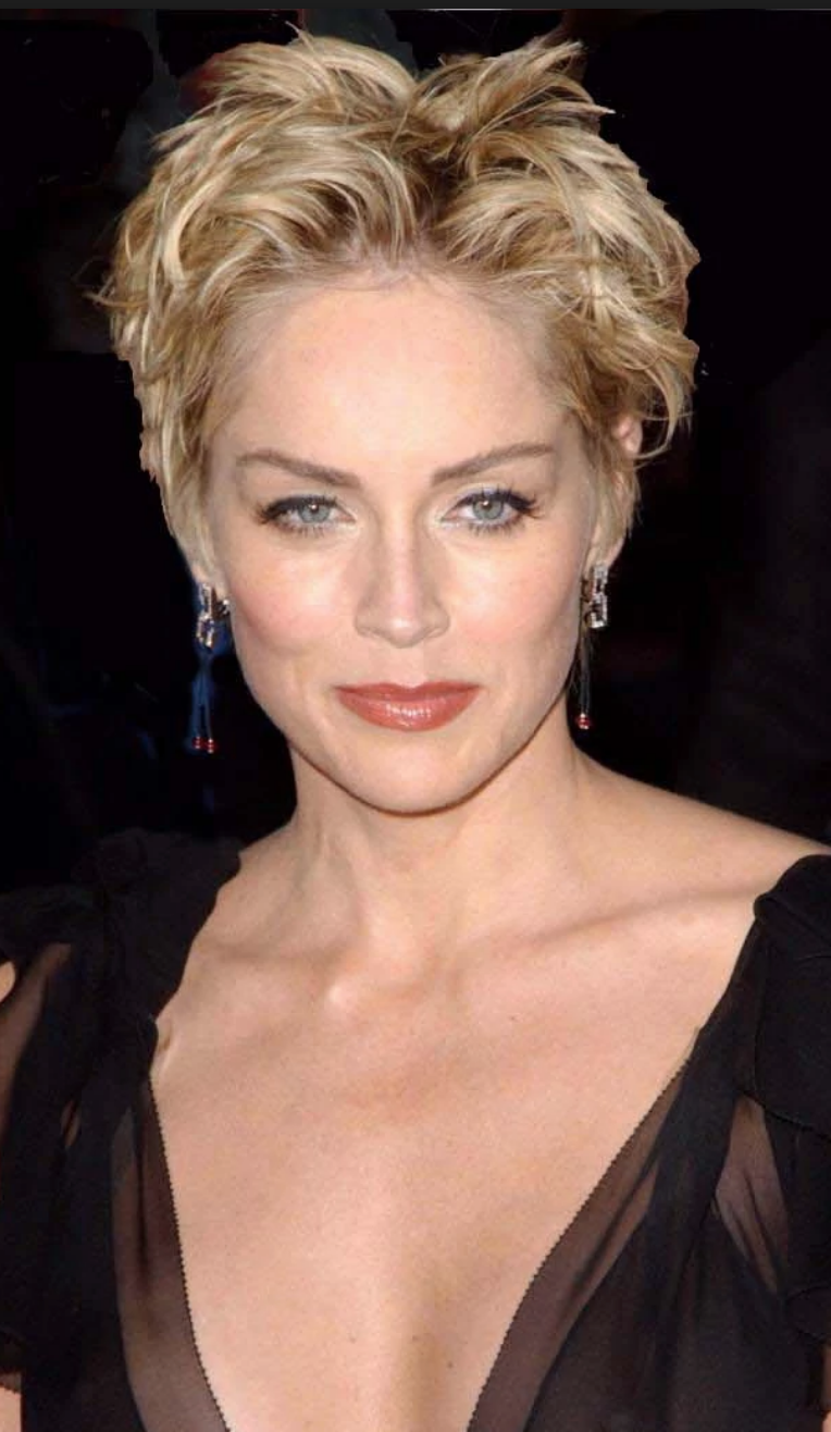 Sharon Stone Women En 2019 Short Hair Styles Sharon