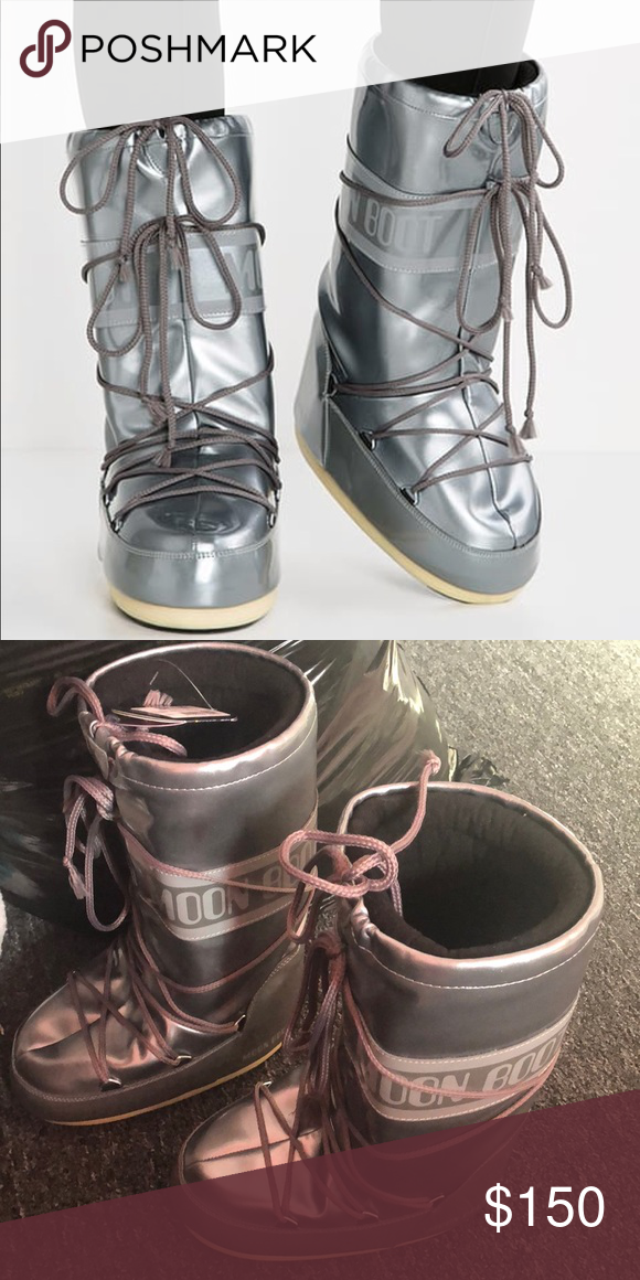 hot sale online b2a75 6988d Silver Tecnica moon boots. I just ordered these moon boots ...