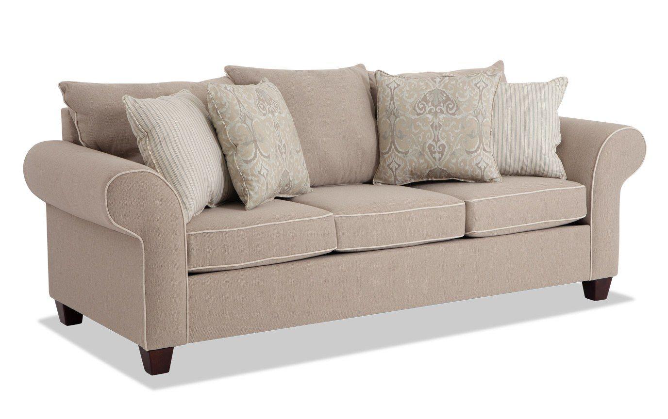 Ashton Khaki BobOPedic Queen Sleeper Sofa Sleeper sofa