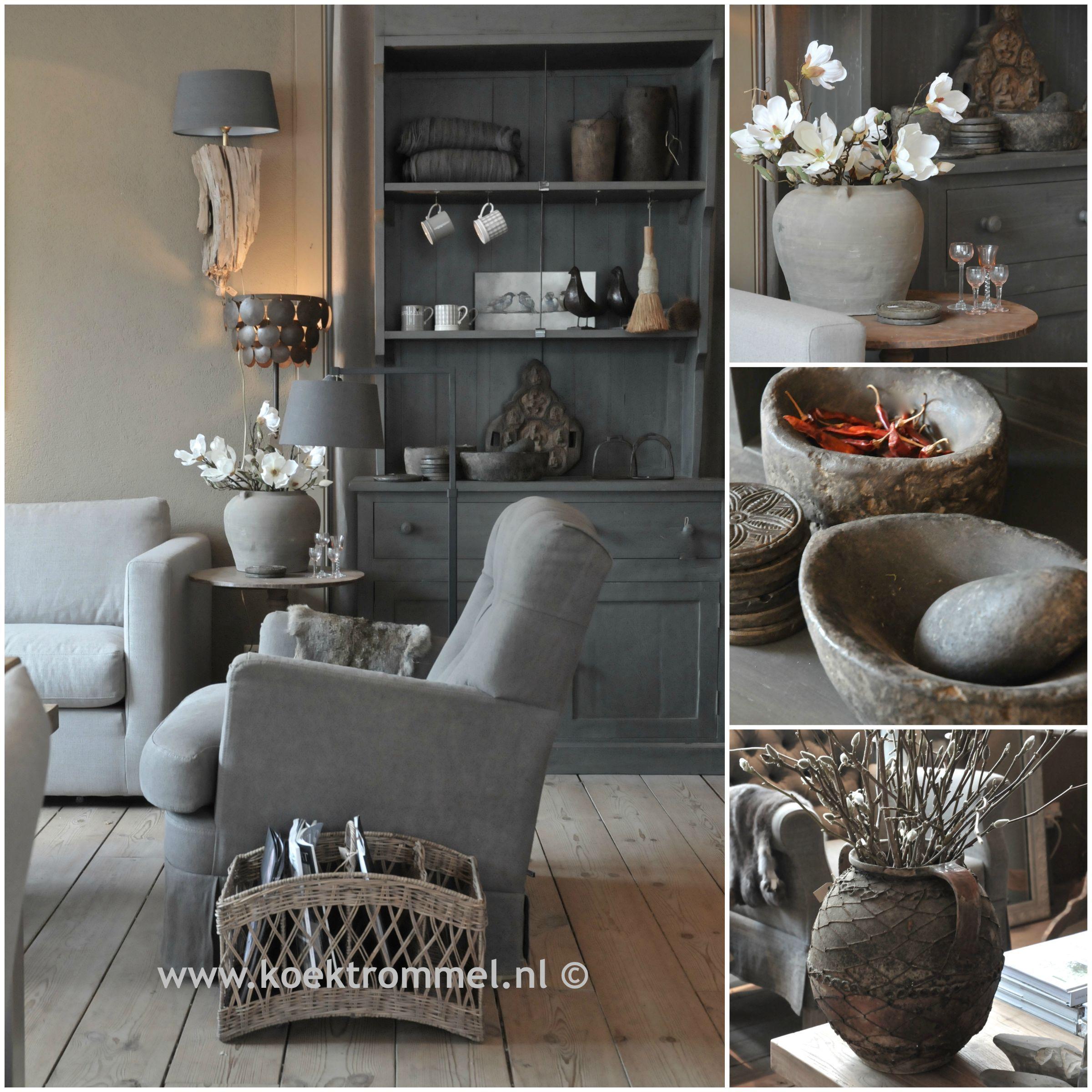 landelijke meubelen en woonaccessoires in een sobere stijl