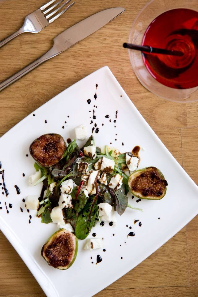 Figs and goats cheese