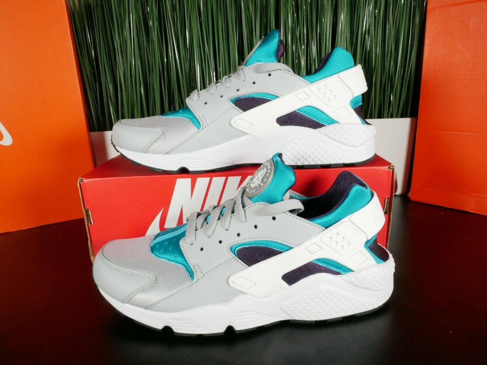 Nike Air Huarache Wolf Grey/White Aquatone Running Shoes 318429 ...