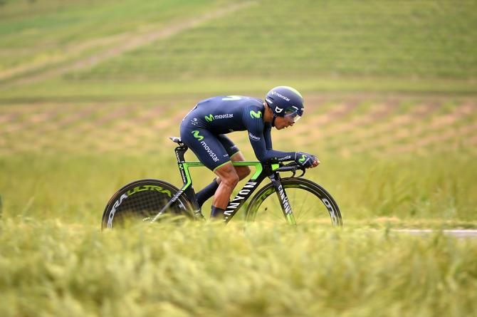 Nairo Quintana (Movistar) lost time in the ITT. Giro Stage 12.