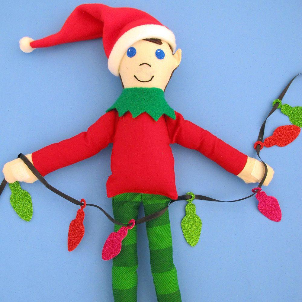 Taffy The Shelf Elf Sewing Pattern Pdf Downloadable Pattern For Elf Doll Tie Dye Diva Patterns Christmas Sewing Patterns Christmas Elf Doll Elf Doll
